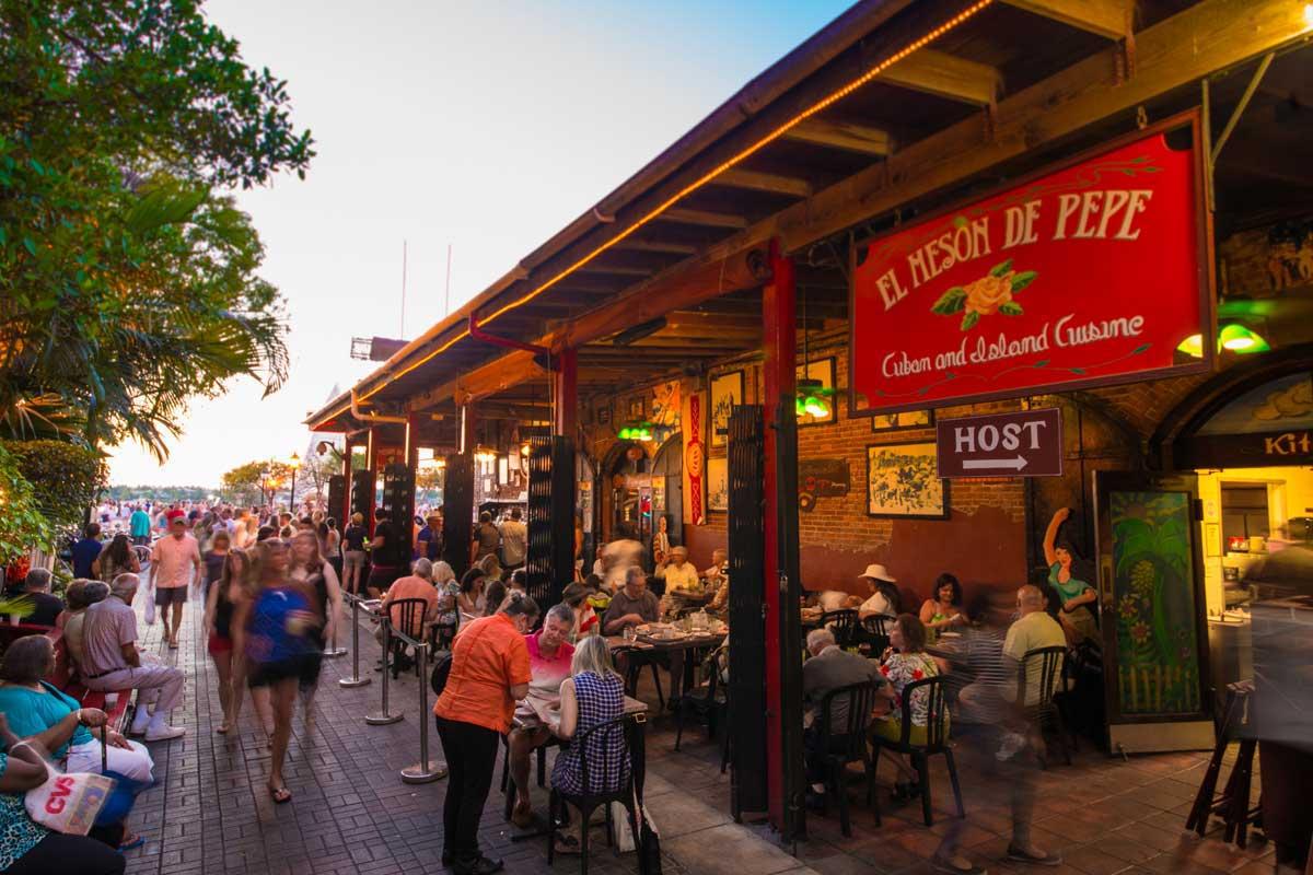 El Meson De Pepe Restaurant Exterior in Mallory Square