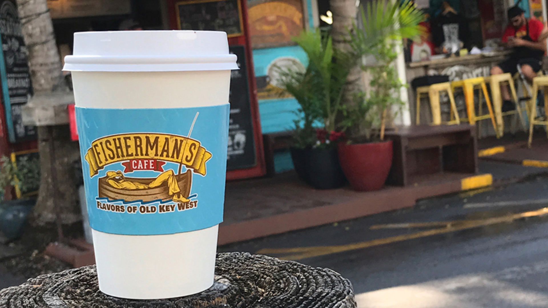 cafe con leche at Fisherman's Cafe in key west